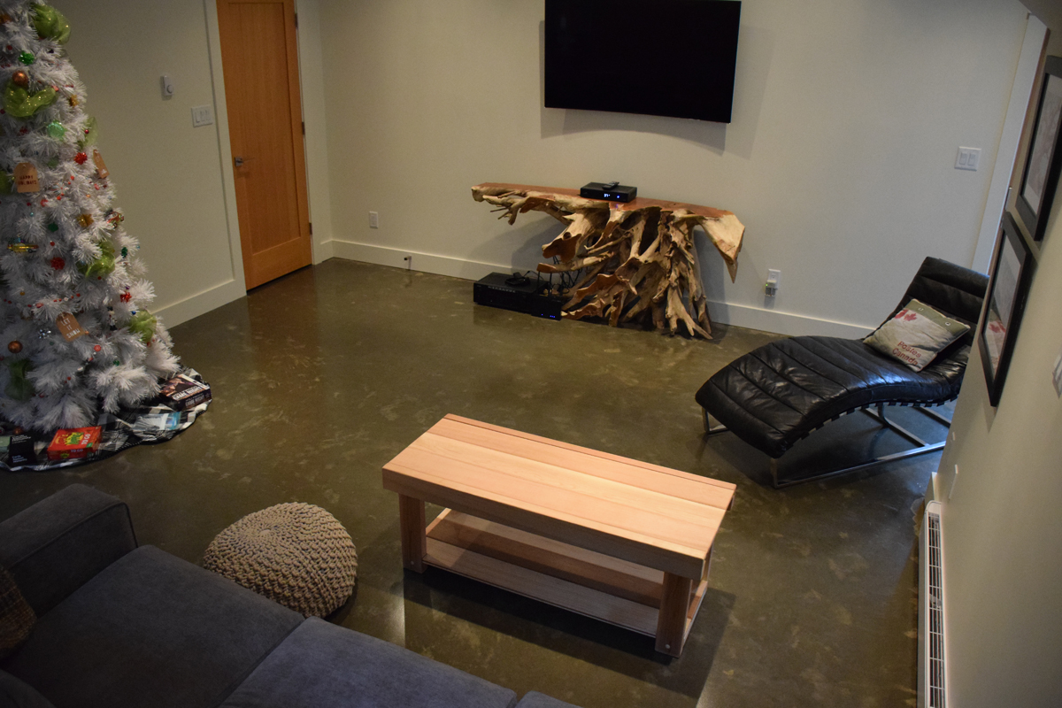 Concrete floors are ideal in a residential setting